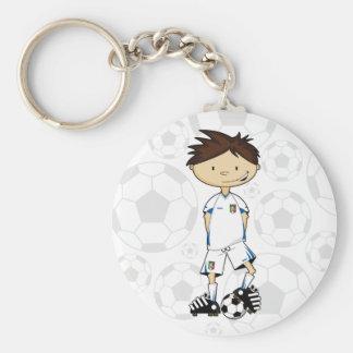 Cute Italy Soccer Boy Keychain
