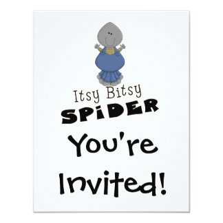 cute itsy bitsy spider 11 cm x 14 cm invitation card