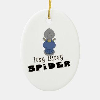 cute itsy bitsy spider ceramic ornament