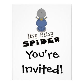 cute itsy bitsy spider custom announcement