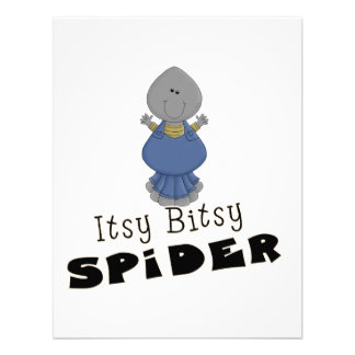 cute itsy bitsy spider custom announcements