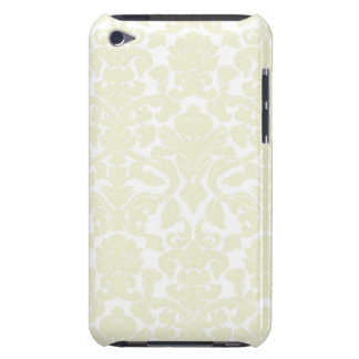 Cute Ivory Damask Pattern Barely There iPod Cases