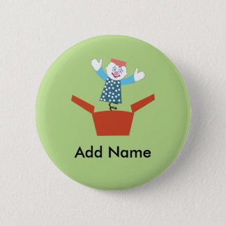 Cute Jack in the Box 6 Cm Round Badge