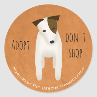 cute Jack Russell choose rescue adopt don't shop Round Sticker