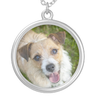 Cute Jack Russell terrier dog silver necklace