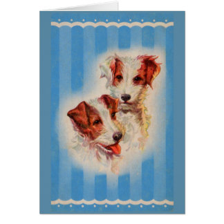 CUTE Jack Russell terriers illustration Card