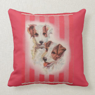 CUTE Jack Russell terriers illustration Cushion