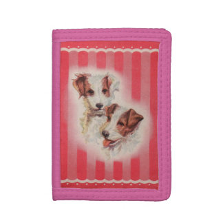 CUTE Jack Russell terriers illustration Trifold Wallet