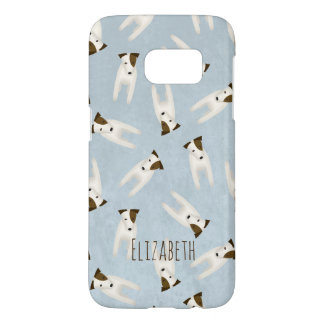cute jack russell terriers patterned