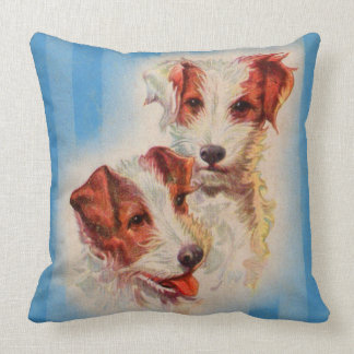 CUTE Jack Russell terriers Throw Pillow