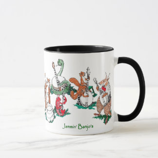Cute Jammin' Banjo's Whimsical Wildlife Mug