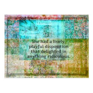 Cute Jane Austen quote from Pride and Prejudice Postcard