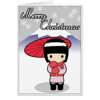 Cute Japanese themed Christmas card