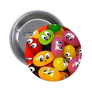 Cute Jelly Bean Smileys 6 Cm Round Badge