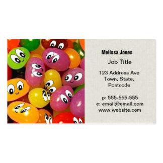 Cute Jelly Bean Smileys Business Card