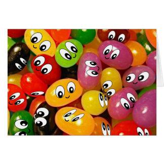 Cute Jelly Bean Smileys Card