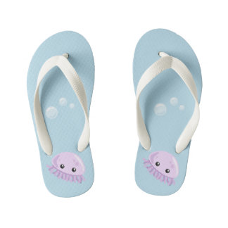 Cute Jellyfish Flip Flops, Kids Kid's Thongs
