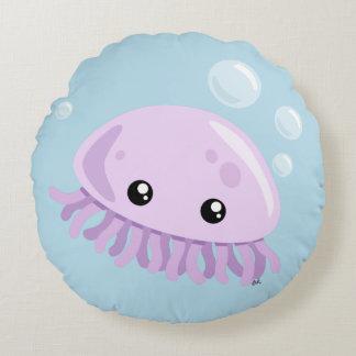 Cute Jellyfish Round Pillow