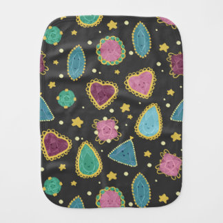 Cute Jewel Burp Cloth