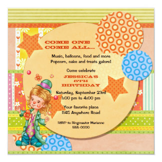 Cute Juggling Circus Clown Birthday Card