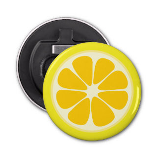 Cute Juicy Citrus Lemon Tropical Fruit Slice Bottle Opener