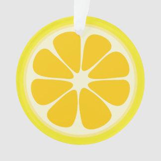 Cute Juicy Citrus Lemon Tropical Fruit Slice Ornament