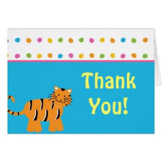 Cute Jungle Animal Thank You Card
