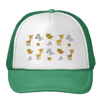 Cute Jungle Animals Pattern Cap