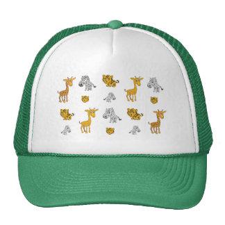 Cute Jungle Animals Pattern Cap