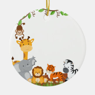 Cute Jungle Baby Animal Ornament