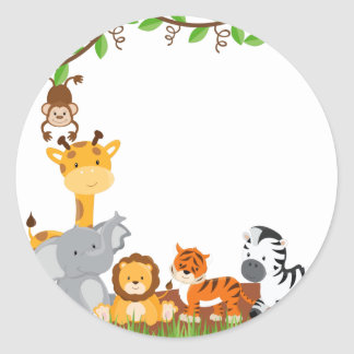Cute Jungle Baby Animal Sticker