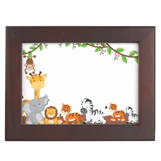 Cute Jungle Baby Animals Memory Boxes