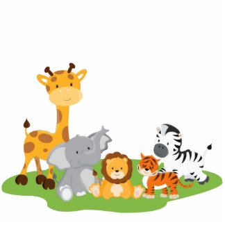 cute animated baby jungle animals. Black Bedroom Furniture Sets. Home Design Ideas