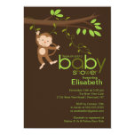 Cute Jungle Monkey Baby Shower Invitations