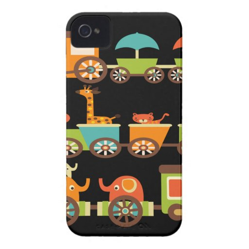 Cute Jungle Safari Animals Train Gifts Kids Baby iPhone 4 Cases