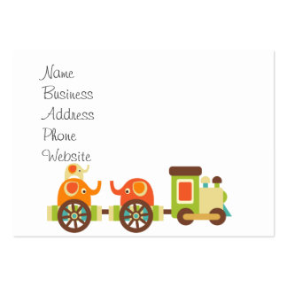 Cute Jungle Safari Animals Train Gifts Kids Baby Pack Of Chubby Business Cards