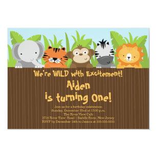 Zoo Birthday Invitations Zazzle Au