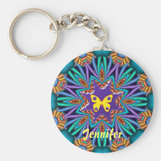 Cute kaleidoscope Ketchain with Name & Butterfly Key Ring