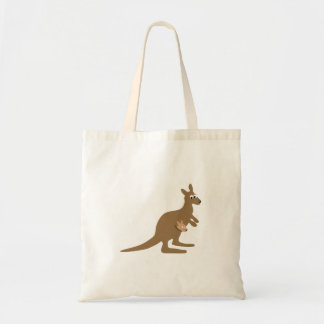 Cute Kangaroo and Joey Tote Bag