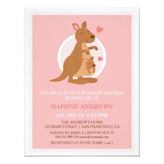Cute Kangaroo Baby Shower Party Invitations