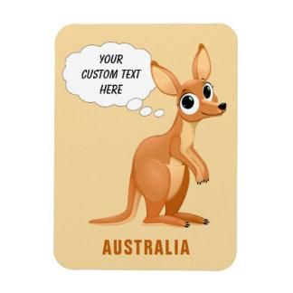 Cute Kangaroo custom text magnet