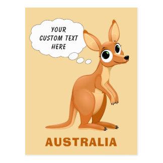 Cute Kangaroo custom text postcard