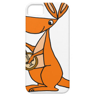 Cute Kangaroo Playing Banjo Cartoon iPhone 5 Cover