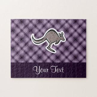 Cute Kangaroo; Purple Puzzles
