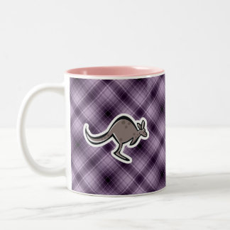 Cute Kangaroo; Purple Two-Tone Mug