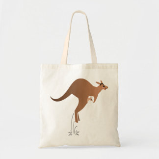 Cute kangaroo with baby in pouch