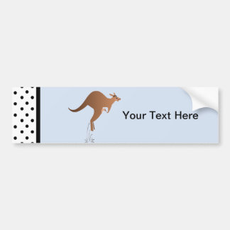 Cute kangaroo with baby in pouch bumper sticker