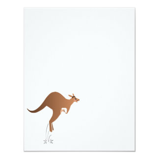Cute kangaroo with baby in pouch card