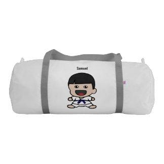 Cute Karate Boy Duffel Bag Gym Duffel Bag