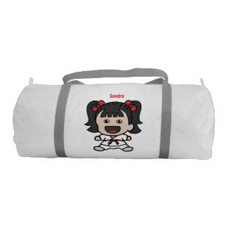 Cute Karate Girl Duffel Bag Gym Duffel Bag